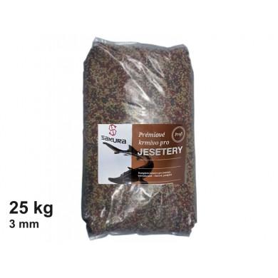 Krmivo pro jesetery - 3 mm pytel 25 kg