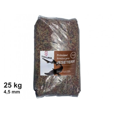 Krmivo pro jesetery - 4,5 mm pytel 25 kg