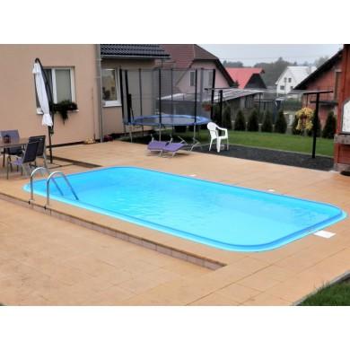 Bazén hranatý 5x3x1,2m žebřík nerez