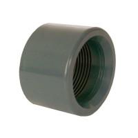 """PVC tvarovka - Redukce krátká vkládací se závitem 63 x 1 1/2"""" int."""