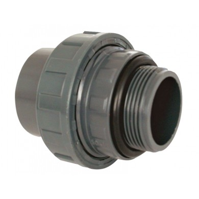 "PVC tvarovka - šroubení s o-kroužkem 50 x 1 1/2"" ext."