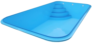 bazén hranatý 6x3x1,2m - plastové schodiště